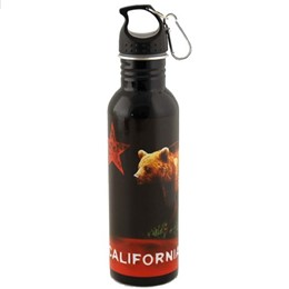 California Bear Flag 750ml. Black Color Waterbottle