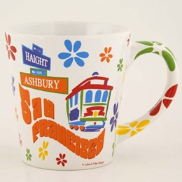 San Francisco Haight Ashbury Paisly 12oz. Taper Mug