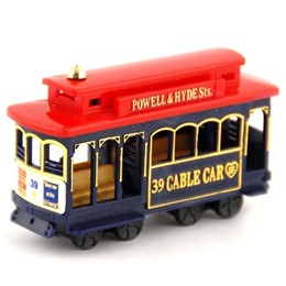 "San Francisco 3"" Red/Blue Plastic Cable Car Magnet"