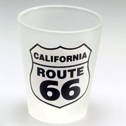 California Route 66 Frosted Shotglass